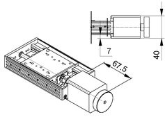 VT-80 Stepper Motor Drawing