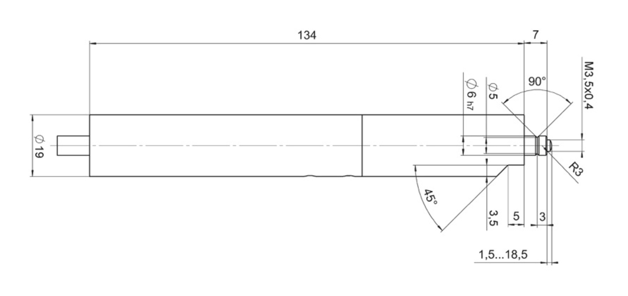 M 231 High Resolution Linear Actuator With Dc And Stepper Motor 220v Wiring Diagram Dimensions In Mm