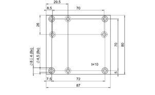 PI M-403.AP2 Adapter Bracket Drawing