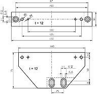 PI M-590.00 Three-Point Support Set Drawing