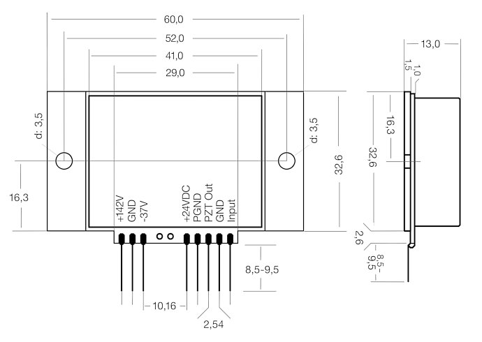E-836.03, dimensions in mm