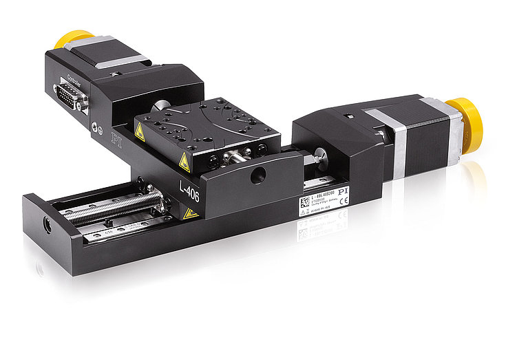L-406 linear stages can be combined for multi-axis positioning in several axes without using an adapter plate.
