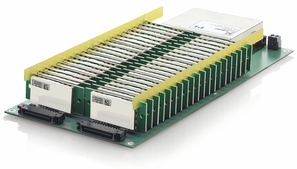 PI E-831.40, successful multi-channel customization: 40 PICMA® multilayer piezo actuators are controlled by a compact amplifier. One single power supply is used to supply the miniature modules with current