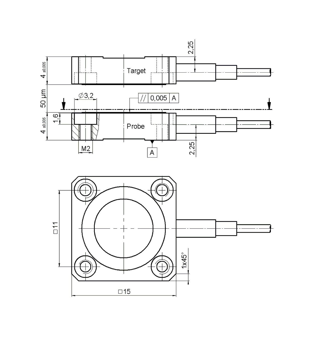 D 015 050 100 Capacitive Sensors Resistance Welding Block Diagram 05000 Dimensions In Mm