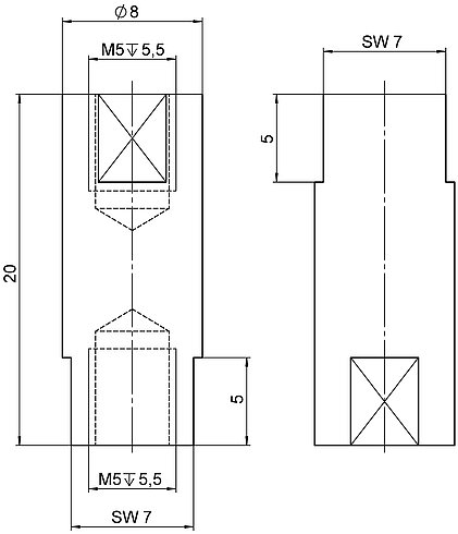 P-176.50, dimensions in mm
