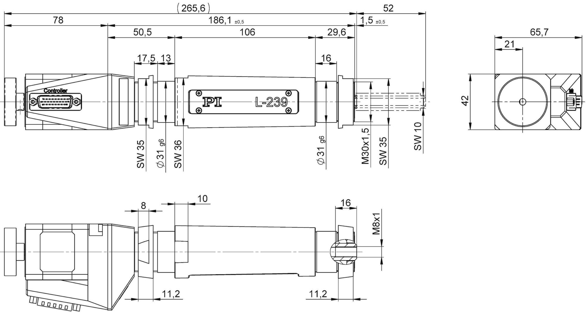 L 239 High Load Linear Actuator Servo Control Loop Diagram Moreover Stepper Motor Circuit 23950sd With Dimensions In Mm