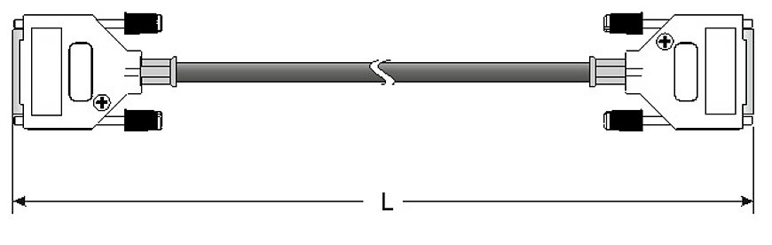 Specified length L of the C-815.82Dxx data transmission cable