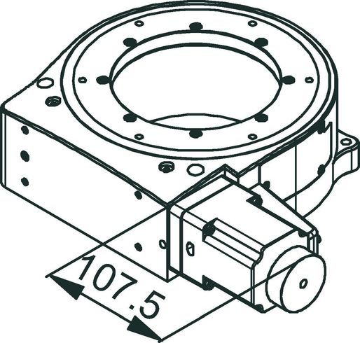 PRS-200 Stepper Motor Drawing