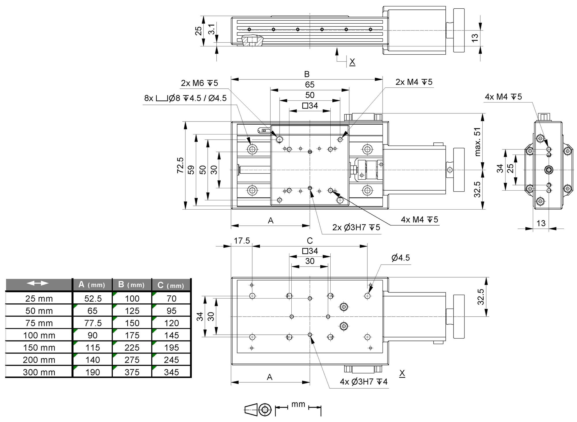 Vt 80 Linear Stage Speed Motor Wiring Diagram 2 Speeds 1 Direction 3 Phase Dc Drawing