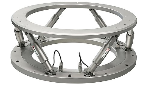 Heavy-duty hexapod for a load of 250 kg, clear aperture 800 mm Ø