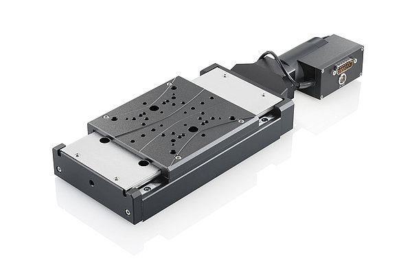 The M-406 precision linear stage as DC motor variant with integrated Active Drive amplifiers