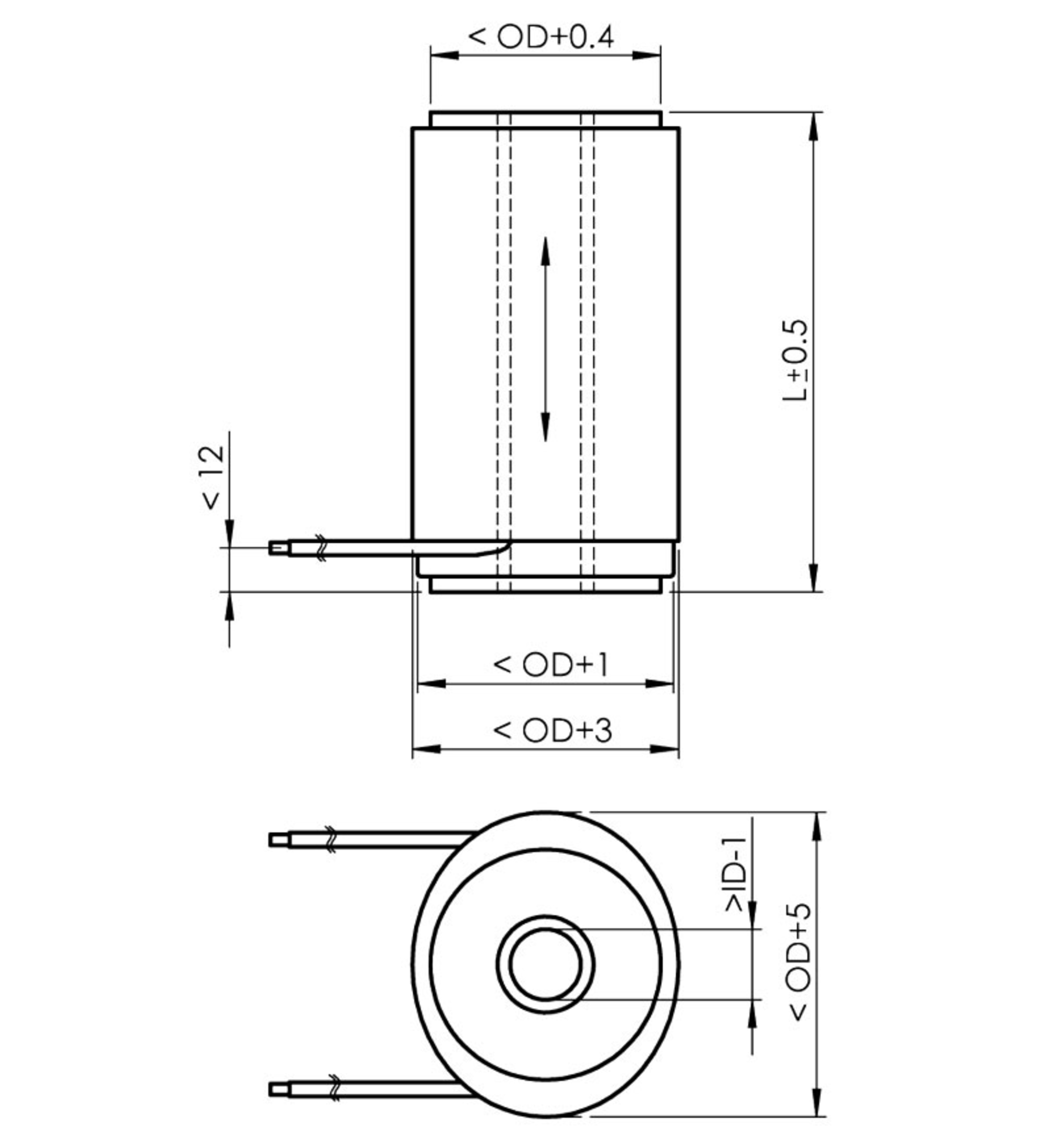 P 010xxh 025xxh Pica Thru Ring Actuators Rod Piezo Wiring Diagrams Standard Versions Are Delivered With Stranded Wires And Covered In Black Custom Designs Available On Request