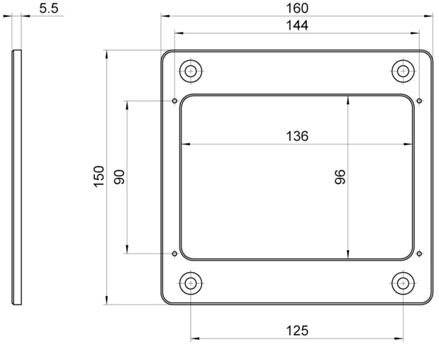 P-736.AP1, dimensions in mm