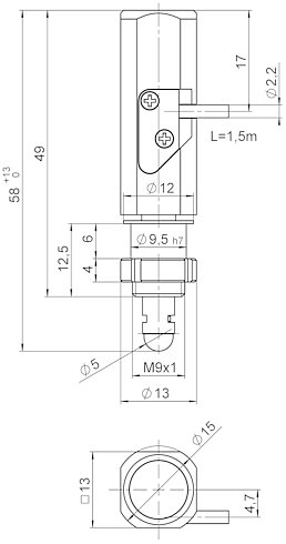 N-412.50, dimensions in mm