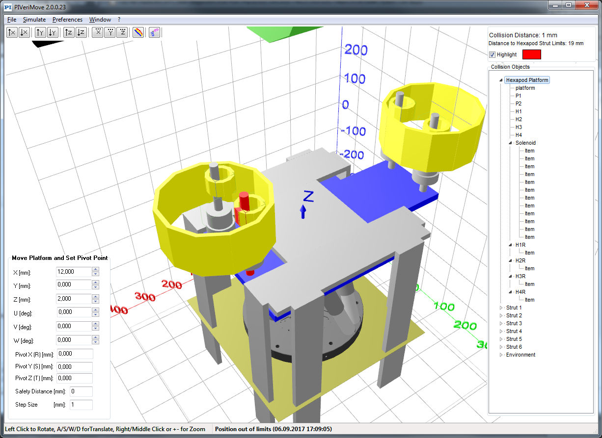 Software Tools for Hexapods
